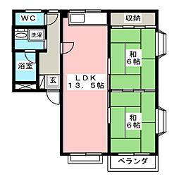 コーポ川崎III[3階]の間取り
