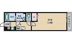 JR東西線 加島駅 徒歩6分の賃貸アパート 1階1Kの間取り