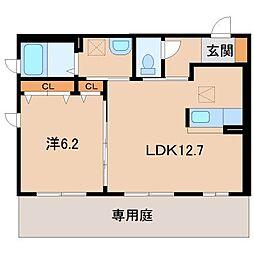 シャーメゾン田中口[1階]の間取り