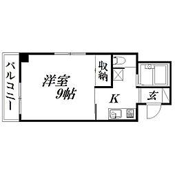 静岡県浜松市中区城北2の賃貸マンションの間取り