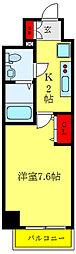 都営三田線 西巣鴨駅 徒歩8分の賃貸マンション 9階1Kの間取り