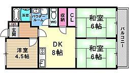 グランドハイツ澤野井[103号室号室]の間取り