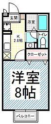 パルフェ三輪 B[1階]の間取り