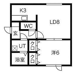 SKクレセントA[2階]の間取り