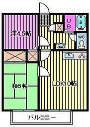 埼玉県さいたま市中央区鈴谷8丁目の賃貸マンションの間取り