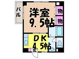 愛媛県松山市南持田町の賃貸マンションの間取り