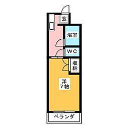 グリーンハイツ安松[1階]の間取り