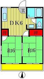 ベルナハイツI[2階]の間取り