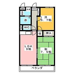 イルプリンチパーレ[4階]の間取り