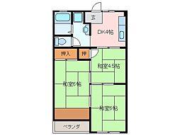 サンスカイまことマンション[2階]の間取り