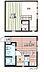 間取り,1LDK,面積38.28m2,賃料6.1万円,JR相模線 寒川駅 徒歩5分,,神奈川県高座郡寒川町岡田1丁目24-12