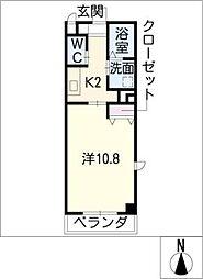 Comodo砂田橋[3階]の間取り