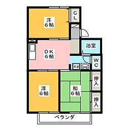 プリオールエフ B棟[2階]の間取り