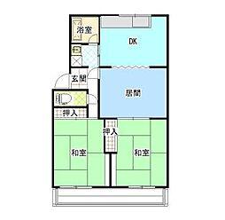 八雲マンション[2階]の間取り