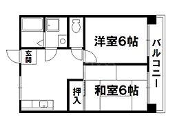 ハイツ吉田[2階]の間取り