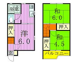 [タウンハウス] 千葉県松戸市中和倉 の賃貸【/】の間取り
