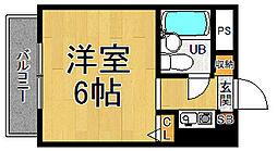 猪名寺パークマンションI[7階]の間取り