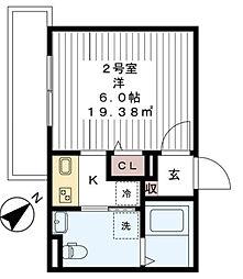 AJ平井[302号室]の間取り
