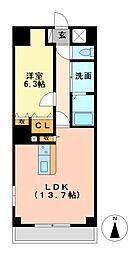 P−SQUARE Shumoku[5階]の間取り
