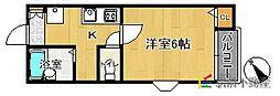 ピュア県庁北弐番館[205号室]の間取り