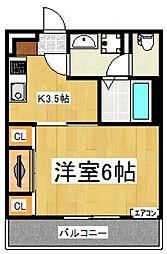 リブリ・TSH[3階]の間取り