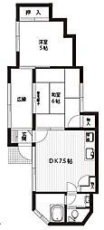 [一戸建] 神奈川県横須賀市若松町3丁目 の賃貸【/】の間取り