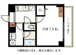 JR宇野線 大元駅 徒歩6分の賃貸マンション 3階1Kの間取り