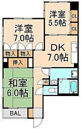 小林マンション[302号室]の間取り