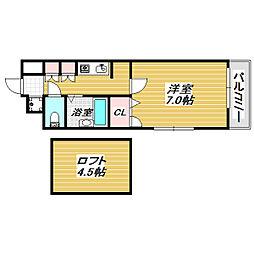 SHIGIハイツ[6階]の間取り
