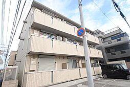 埼玉県越谷市袋山の賃貸アパートの外観