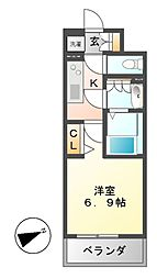 N.S.ZEAL大曽根[12階]の間取り