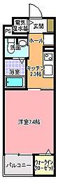 クオーレ メグ[202号室]の間取り