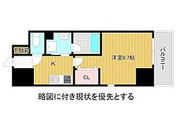 名古屋市営名城線 大曽根駅 徒歩3分の賃貸マンション 2階1Kの間取り