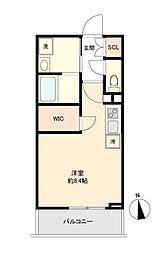 東京メトロ銀座線 稲荷町駅 徒歩7分の賃貸マンション 2階ワンルームの間取り