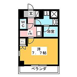 愛知県岡崎市羽根町字東荒子の賃貸マンションの間取り