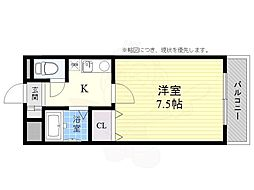 JR東海道・山陽本線 高槻駅 バス26分 奈佐原下車 徒歩3分の賃貸マンション 2階1Kの間取り