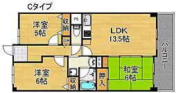 サワー・ドゥー住之江公園[7階]の間取り