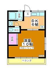 コーポ町田[101号室]の間取り