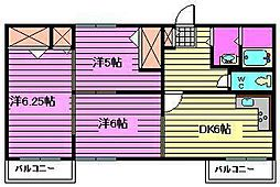 プラザ大和田[1階]の間取り