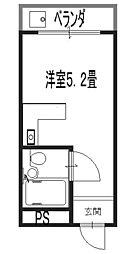 アッシュコート夕凪[2階]の間取り