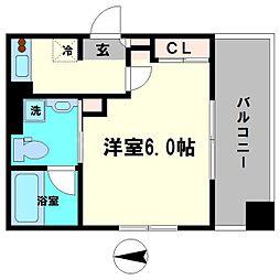 京阪本線 森小路駅 徒歩10分の賃貸マンション 4階1Kの間取り