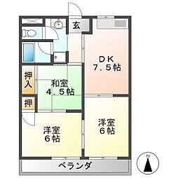 ユーハイツII[2階]の間取り