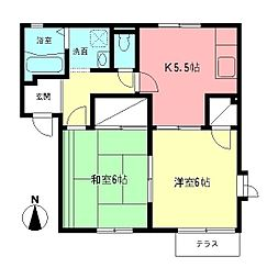 城見塚ハイツB[101号室]の間取り