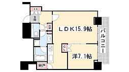 ジークレフ新神戸タワー[27階]の間取り