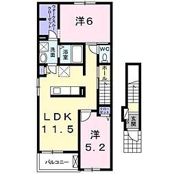 コンフォートガーデンIII[2階]の間取り