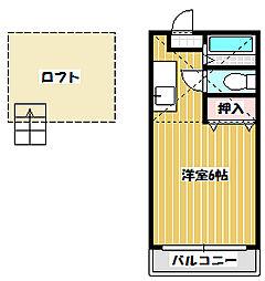 サンライフイイジマ[201号室]の間取り