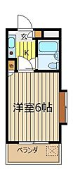 埼玉県朝霞市膝折町4丁目の賃貸マンションの間取り