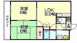 ドリームハウス桜木[1階]の間取り