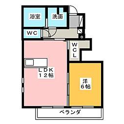 ボン・ファブール[1階]の間取り