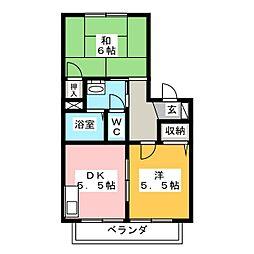 フレンド宮田 A棟[1階]の間取り